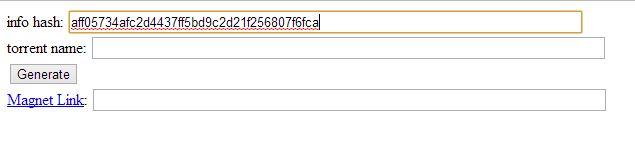 torrent info hash