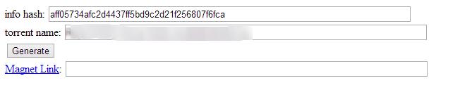 torrent info hash generator